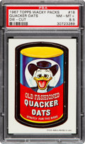 "Non-Sport Cards:Singles (Post-1950), 1967 Topps Wacky Packs ""Quacker Oats"" Die-Cut #18 PSA NM-MT+ 8.5...."