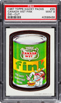 "Non-Sport Cards:Singles (Post-1950), 1967 Topps Wacky Packs ""Canada Wet Fink"" Die-Cut #35 PSA Mint 9 -Only One Higher. ..."