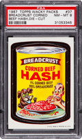 "Non-Sport Cards:Singles (Post-1950), 1967 Topps Wacky Packs ""Breadcrust Corned Beef Hash"" Die-Cut #37PSA NM-MT 8. ..."