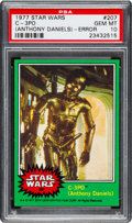 "Non-Sport Cards:Singles (Post-1950), 1977 Topps Star Wars ""C-3PO (Anthony Daniels)"" (Error) #207 PSA GemMT 10 - Pop Two...."