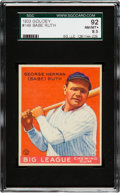 Baseball Cards:Singles (1930-1939), 1933 Goudey Babe Ruth #149 SGC 92 NM/MT+ 8.5 - Pop Three, NoneHigher....