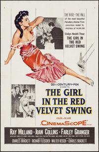 """The Girl in the Red Velvet Swing & Others Lot (20th Century Fox, 1955). One Sheets (4) (27"""" X 41""""). Dr..."""