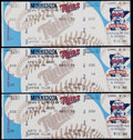 Baseball Collectibles:Tickets, 2000 Cal Ripken Jr. 3000th Hit Full Tickets Lot of 3....