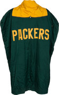 Football Collectibles:Uniforms, Mid 1960's Green Bay Packers Game Worn Sideline Cape....