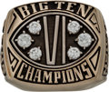 Football Collectibles:Others, 1990 Michigan State University Spartans Big Ten Championship Football Ring....