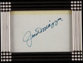 Baseball Collectibles:Others, Joe DiMaggio Signed Cut Signature....
