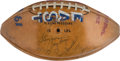 Football Collectibles:Balls, 1961 National Football League Pro Bowl Team Signed Football - With Lombardi! ...