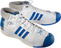 Basketball Collectibles:Others, 2008 Dwight Howard Game Worn, Signed All-Star Shoes. ...
