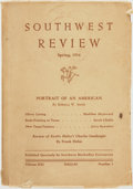 Books:Periodicals, [Texana, Periodicals]. Southwest Review, Volume XXI, No. 3.Spring, 1936. Dallas, TX: Southern Methodist Univers...