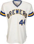 Baseball Collectibles:Balls, 1976 Hank Aaron Game Worn Milwaukee Brewers Jersey. ...
