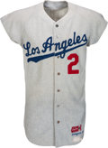 Baseball Collectibles:Uniforms, 1967 Dick Schofield Game Worn Los Angeles Dodgers Jersey, MEARS Authentic....