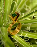Estate Jewelry:Rings, Jens Asby (Danish, 20th Century). Modernist Ring, circa1970. 14K gold, tourmaline. Ring Size 5-1/4 . Stamped to the int...