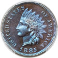 Proof Indian Cents, 1885 1C PR67 Brown PCGS....