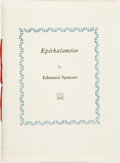 Books:Literature 1900-up, [Wind and Harlot Press]. Edmund Spenser. LIMITED. Epithalamion. [Shaker Heights, OH: The Wind and Harlot Pre...