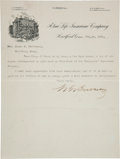 Baseball Collectibles:Others, 1901 Morgan Bulkeley Signed Letter....