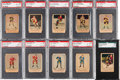 Hockey Cards:Lots, 1951 Parkhurst Hockey Graded Collection (10)....