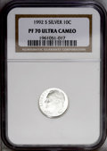 Proof Roosevelt Dimes: , 1992-S 10C Silver PR70 Deep Cameo NGC. NGC Census: (137/0). PCGSPopulation (53/0). Numismedia Wsl. Price: $160. (#95275)...