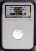 Proof Roosevelt Dimes: , 2000-S 10C Silver PR70 Deep Cameo NGC. NGC Census: (510/0). PCGSPopulation (60/0). Numismedia Wsl. Price: $200. (#95291)...