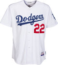 Baseball Collectibles:Uniforms, 2009 Clayton Kershaw Game Worn, Signed Los Angeles Dodgers Jersey. ...