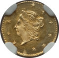 California Fractional Gold , 1871 50C Liberty Round 50 Cents, BG-1011, R.2, MS66 NGC. NGCCensus: (8/5). PCGS Population (14/3). ...