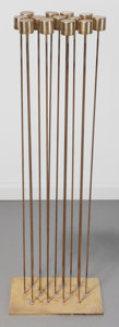 Fine Art - Sculpture, American:Contemporary (1950 to present), Val Bertoia (American, b. 1949). Sombient Sound B-1914,2015. 12 brass cat-tails silvered beryllium, copper, silvered br...