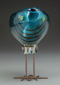 Art Glass:Other , Alessandro Pianon (Italian, 20th Century). Pulcino, circa1960, Vistosi. Blown glass, copper. 7-1/8 inches high (18.1 cm...