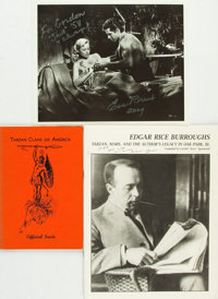 [Edgar Rice Burroughs]. Group of Three Burroughs Related Items. Various publisher's and dates