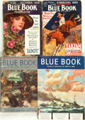 Books:Pulps, [Pulps]. Edgar Rice Burroughs. Four Issues of Blue BookMagazine Featuring Short Works by Burroughs. December, 1...(Total: 4 Items)