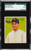 Baseball Cards:Singles (1930-1939), 1933 Goudey Napoleon Lajoie #106 SGC 10 Poor 1 - A Newly Discovered Example. ...