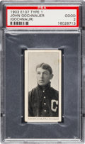 Baseball Cards:Singles (Pre-1930), 1903 E107 Breisch Williams John Gochnaur, Blank Back PSA Good 2....