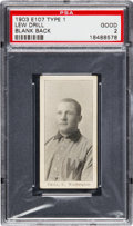 Baseball Cards:Singles (Pre-1930), 1903 E107 Breisch Williams Lew Drill, Blank Back PSA Good 2. ...