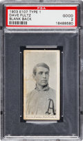 Baseball Cards:Singles (Pre-1930), 1903 E107 Breisch Williams Dave Fultz, Blank Back PSA Good 2 - TheOnly PSA Example! ...