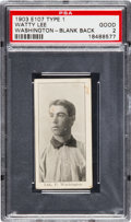 Baseball Cards:Singles (Pre-1930), 1903 E107 Breisch Williams Watty Lee, Blank Back PSA Good 2 - TheOnly PSA Example! ...