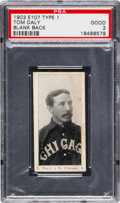 Baseball Cards:Singles (Pre-1930), 1903 E107 Breisch Williams Tom Daly, Blank Back PSA Good 2 - TheOnly PSA Example! . ...