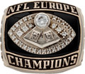 Football Collectibles:Others, 2004 Berlin Thunder NFL Europe Championship Ring. ...