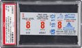 Baseball Collectibles:Tickets, 1974 Hank Aaron 715th Home Run Game Ticket Stub, PSA NM-MT 8. ...
