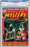 Bronze Age (1970-1979):Horror, Journey Into Mystery #1 White Mountain Pedigree (Marvel, 1972) CGCNM- 9.2 White pages....