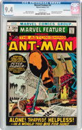 Bronze Age (1970-1979):Adventure, Marvel Feature #4 Ant-Man - White Mountain Pedigree (Marvel, 1972) CGC NM 9.4 White pages....