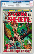 Bronze Age (1970-1979):Miscellaneous, Shanna the She-Devil #1 White Mountain Pedigree (Marvel, 1972) CGCVF/NM 9.0 White pages....