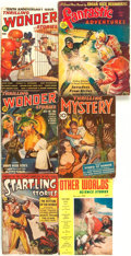 Books:Science Fiction & Fantasy, [Pulps]. Group of Six. Fantastic Adventures, Thrilling Wonder Stories, Thrilling Mystery, Startling Storie... (Total: 6 Items)
