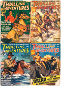 Books:Pulps, [Pulps]. Edgar Rice Burroughs. Four Issues of ThrillingAdventures Featuring Short Works by Burroughs. March - J...(Total: 4 Items)