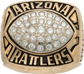 Football Collectibles:Others, 1997 Arizona Rattlers Arena League Championship Ring....