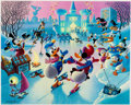 Memorabilia:Disney, Carl Barks Mardi Gras Before the Thaw Signed Limited Edition Lithograph Print #224/350 (Another Rainbow, 1992)....