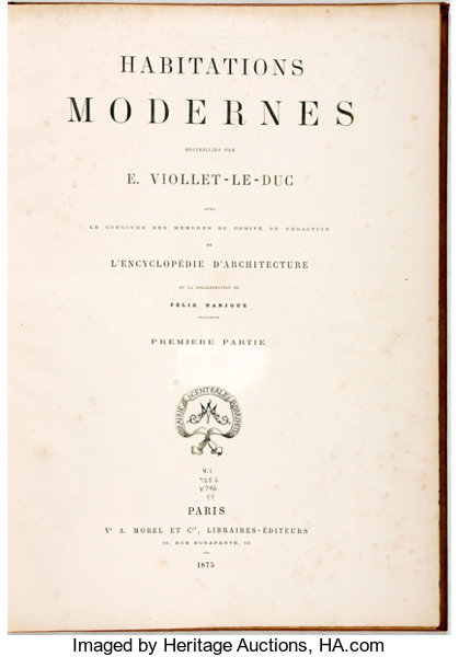 Book cover of Habitations modernes