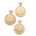 Timepieces:Pocket (post 1900), Three Waltham's Gold Filled Hunter Cases. ... (Total: 3 Items)