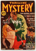 Pulps:Horror, Thrilling Mystery - September 1940 (Standard) Condition: VG+....