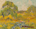 Fine Art - Painting, American:Modern  (1900 1949)  , Peter Lanz Hohnstedt (American, 1872-1957). Summer in Yellowsand Greens. Oil on canvasboard. 4-1/2 x 5-1/2 inches (11.4...