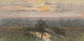 Fine Art - Work on Paper:Drawing, School of Frank Reaugh (American, 1860-1945). TexasLandscape. Pastel on paper. 4-1/2 x 9-1/2 inches (11.4 x 24.1cm) (s...