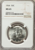 Kennedy Half Dollars, 1964 50C MS65 NGC. NGC Census: (3250/886). PCGS Population(2464/1334). Mintage: 273,300,000. Numismedia Wsl. Price for pro...