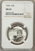 Kennedy Half Dollars, 1964 50C MS65 NGC. NGC Census: (3250/886). PCGS Population(2442/1302). Mintage: 273,300,000. Numismedia Wsl. Price for pro...